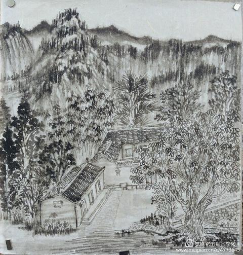 五墨堂李化猛国画工作室画家信阳传统村落行(山店乡大鸡笼)